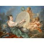 Puzzle  Grafika-01793 François Boucher: Allegory of Painting, 1765