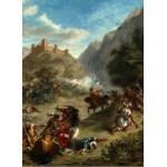 Puzzle  Grafika-01803 Eugène Delacroix: Arabs Skirmishing in the Mountains, 1863