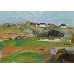 Puzzle  Grafika-01848 Paul Gauguin : Landscape at Le Pouldu, 1890