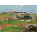 Puzzle  Grafika-01849 Paul Gauguin : Landscape at Le Pouldu, 1890