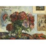 Puzzle  Grafika-01858 Paul Gauguin: Still Life with Peonies, 1884