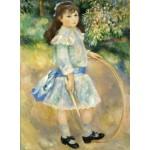 Puzzle  Grafika-01870 Auguste Renoir : Girl with a Hoop, 1885