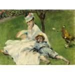 Puzzle  Grafika-01900 Auguste Renoir: Madame Monet and Her Son, 1874