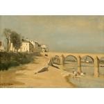 Puzzle  Grafika-01952 Jean-Baptiste-Camille Corot: Bridge on the Saône River at Mâcon, 1834