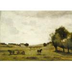 Puzzle  Grafika-01954 Jean-Baptiste-Camille Corot: View near Epernon, 1850-1860