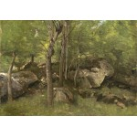 Puzzle  Grafika-01972 Jean-Baptiste-Camille Corot: Rocks in the Forest of Fontainebleau, 1860-1865