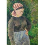 Puzzle  Grafika-02025 Camille Pissarro: Peasant Woman, 1880