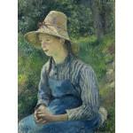 Puzzle  Grafika-02030 Camille Pissarro: Peasant Girl with a Straw Hat, 1881