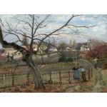 Puzzle  Grafika-02038 Camille Pissarro: The Fence, 1872
