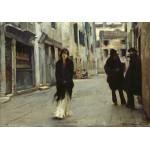 Puzzle  Grafika-02079 John Singer Sargent: Street in Venice, 1882