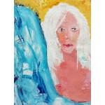 Puzzle  Grafika-02104 Mädchen mit weißem Haar