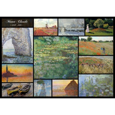 Puzzle Grafika-T-00050 Claude Monet - Collage