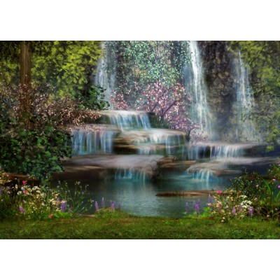 Puzzle Grafika-T-00059 Bezaubernder Wasserfall