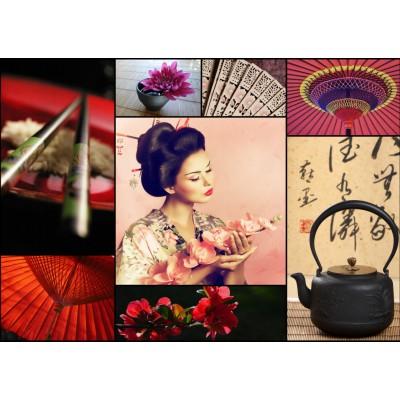 Puzzle Grafika-T-00084 Collage - Japan