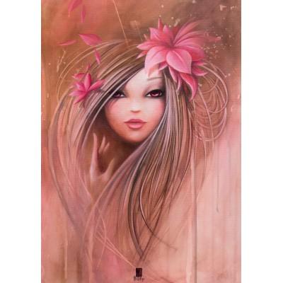 Puzzle Grafika-T-00108 Misstigri: Sweet Pinky Girl
