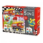 King-Puzzle-05076 Kiddy Puzzles - 5 in 1