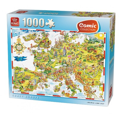 Puzzle King-Puzzle-05077 Comic Collection - Verrücktes Europa