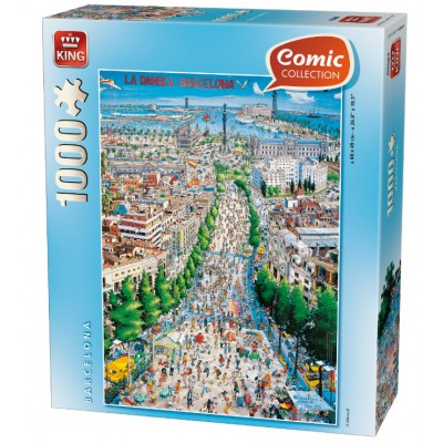 Puzzle King-Puzzle-05084 Comic Collection - La Rambla, Barcelona