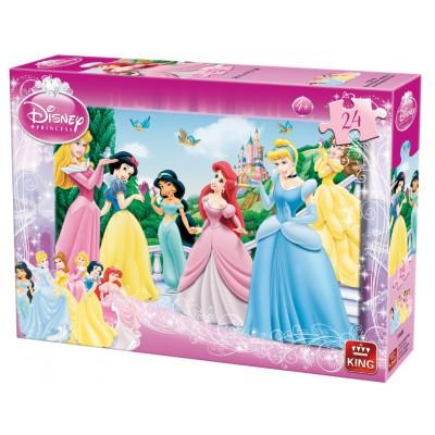 Puzzle King-Puzzle-05160-A Disney Prinzessinnen