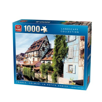 Puzzle King-Puzzle-05194 Frankreich, Colmar, Klein-Venedig