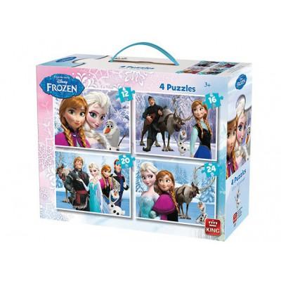 King-Puzzle-05237 4 Puzzles: Frozen - Die Eiskönigin