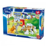 Puzzle  King-Puzzle-05240-A Dinsey: 101 Dalmatiner, Susi & Strolch, Aristocats