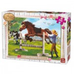 Puzzle  King-Puzzle-05295 Girls & Horses