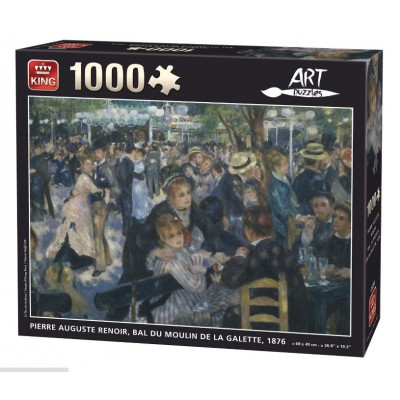 Puzzle King-Puzzle-05399 Auguste Renoir: Le Bal du Moulin de la Galette, 1876