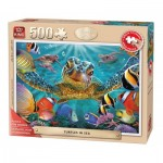 Puzzle  King-Puzzle-05534 XXL Teile - Turtles in the Sea