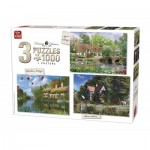 King-Puzzle-85530 3 Puzzles - Dominic Davison: Cottage