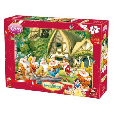 Puzzle King-Puzzle-K04754-B Schneewittchen und die sieben Zwerge
