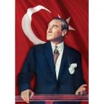 Puzzle  KS-Games-11207 Mustafa Kemal Atatürk vor der türkischen Fahne