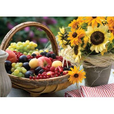 Puzzle KS-Games-11227 Früchte und Sonnenblumen