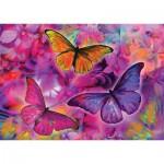 Puzzle  KS-Games-11262 Schmetterlinge und Orchideen - Regenbogen