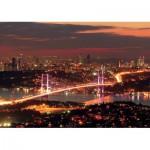 Puzzle  KS-Games-11288 Türkei, Istanbul: Bosporusbrücke bei Nacht