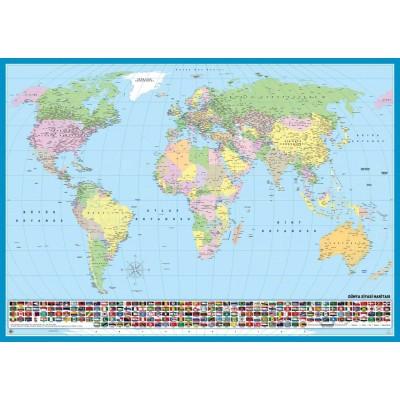 Puzzle KS-Games-11332 Weltkarte (auf Türkisch)