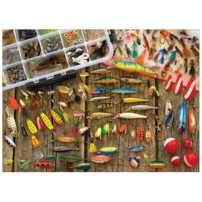 Fishing Lures 1000 Teile Cobble Hill Outset Media Puzzle