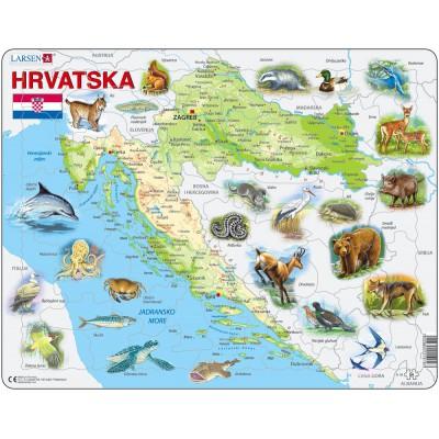 rahmenpuzzle kroatien und seine tiere auf kroatisch. Black Bedroom Furniture Sets. Home Design Ideas