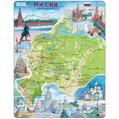 Rahmenpuzzle Russland Europaischer Teil Auf Russisch 81