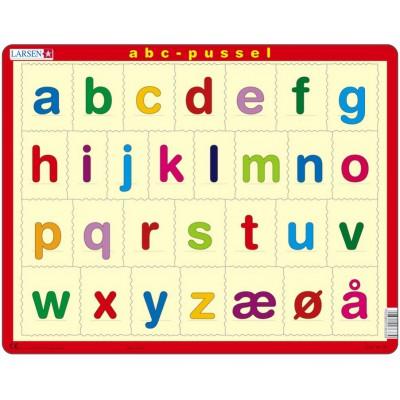 rahmenpuzzle das alphabet auf norwegisch 26 teile. Black Bedroom Furniture Sets. Home Design Ideas