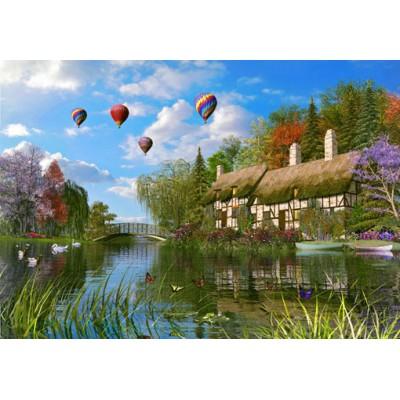 Dominic Davison Old River Cottage 1000 Teile King