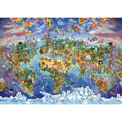 World Wonders Illustrated Map - 2000 Teile - ART PUZZLE Puzzle ...