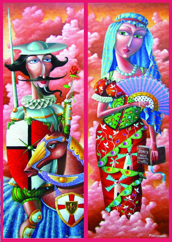 2 Puzzles - Don Quichotte und Dulcinea