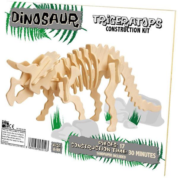 3D Puzzle aus Holz - Triceratops