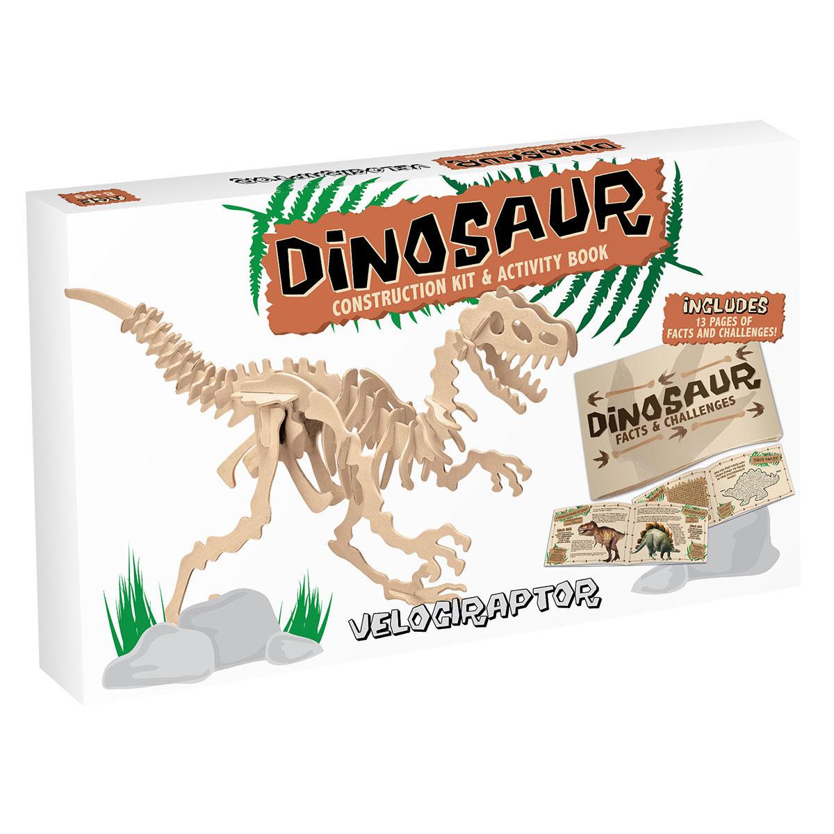 3D Puzzle aus Holz - Velociraptor