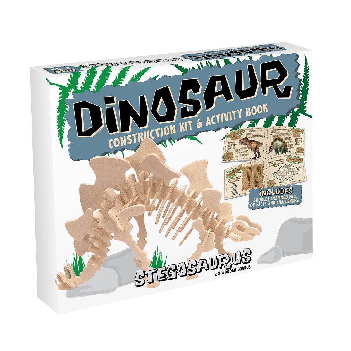 3D Puzzle aus Holz - Stegosaurus