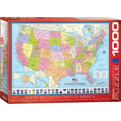 Map of the United States - 1000 Teile - EUROGRAPHICS Puzzle online ...