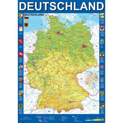 Deutschlandkarte 1000 Teile Schmidt Spiele Puzzle Online Kaufen