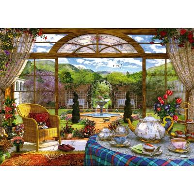 Puzzle Dominic Davison Blick Aus Dem Wintergarten