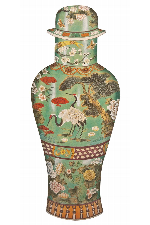 Holzpuzzle - Chinesiche Kunst - Celadon Vase